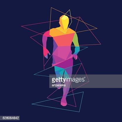 Modelo de logotipo de silhueta do Homem a correrStencils : Arte vetorial
