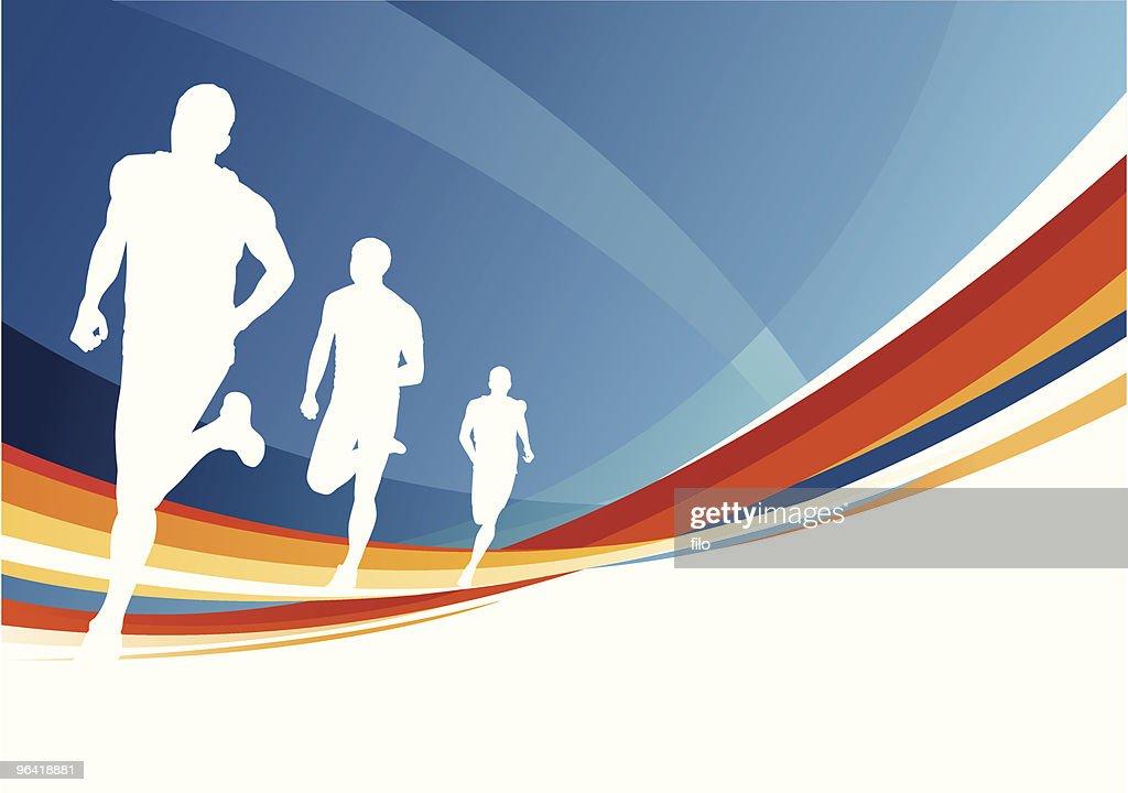 Running Man : Vector Art