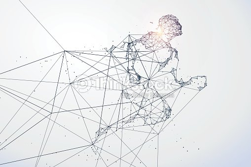 Running Man,Network connection turned into, vector illustration. : stock vector