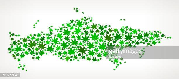 Russia Map royalty free vector Marijuana Leaves Weed graphic