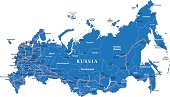 Detailed map of Russia.