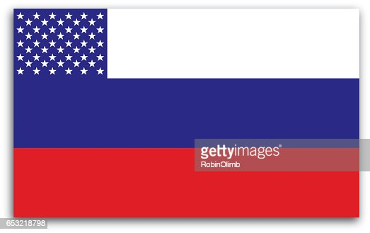 Russian American Flag : Vector Art