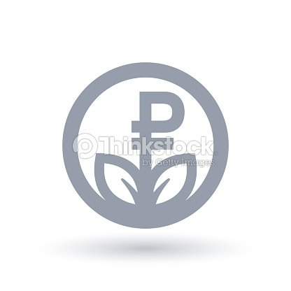 Russian Ruble Currency Grow Concept Icon Russia Business Investment