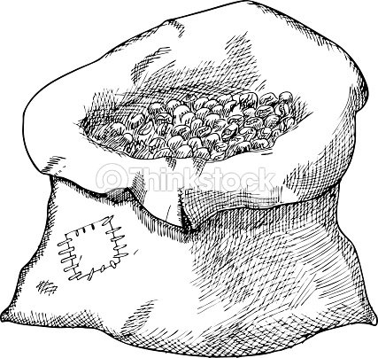 Sack with coffee beans illustration vector art thinkstock for How to draw a coffee bean