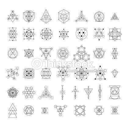 sacred geometry signs collection ベクトルアート thinkstock