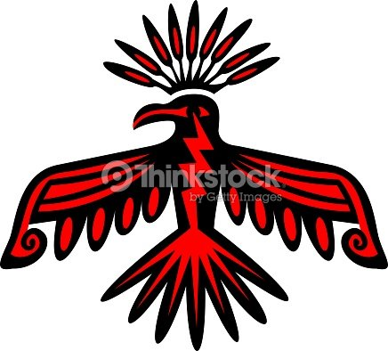 Sacred Thunderbird Native American Symbol Power Strength Vector Art