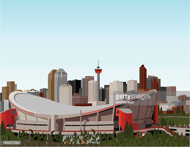 Saddledome and Downtown Calgary