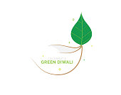 Safe and Pollution Free Concept Diwali Template Design