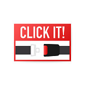 Safety belt vector flat design. Vector stock illustration.