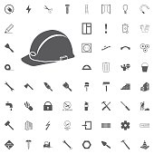 Vector illustration of a web icons safety helmet, hard hat white background
