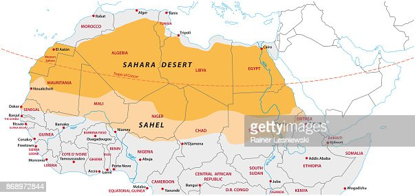 Sahara And Sahel Map Vector Art Thinkstock