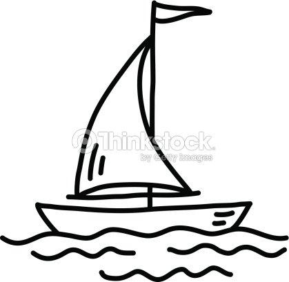 Dessin de voilier clipart vectoriel thinkstock - Voilier dessin ...