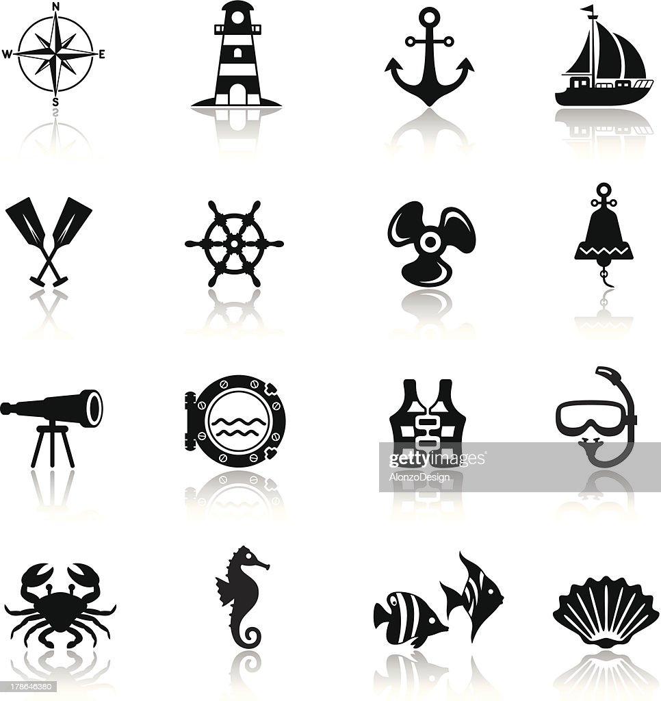 Sailing Icon Set : Vector Art