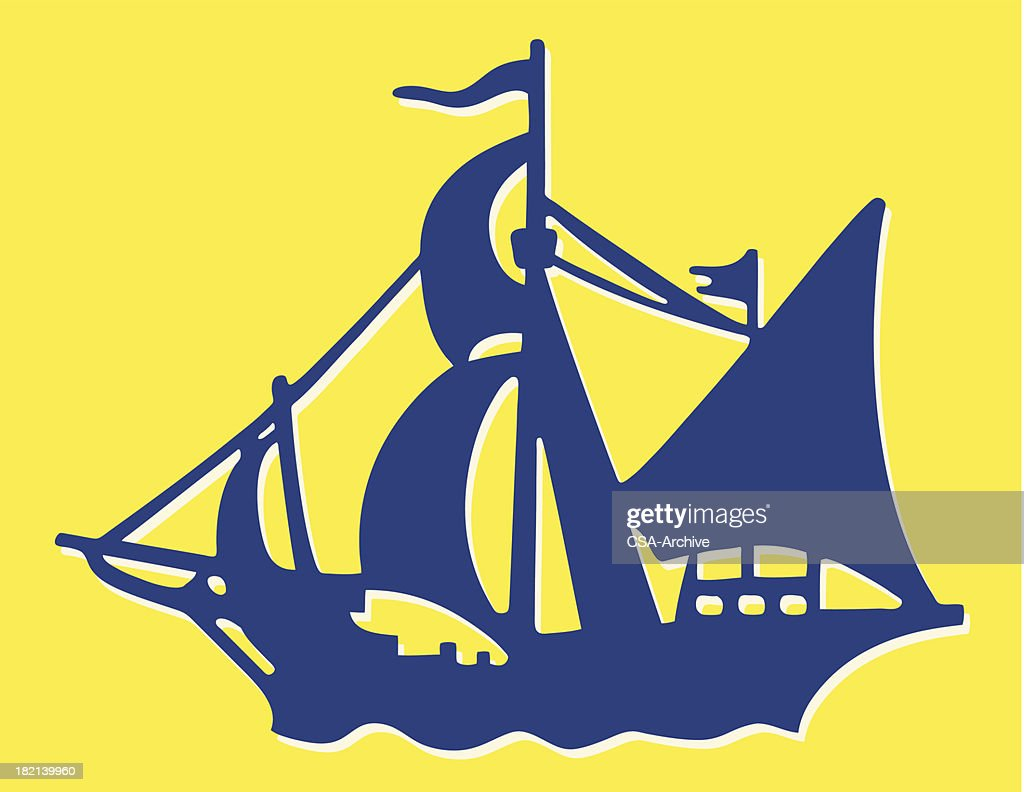 Sailing Ship Vector Art | Getty Images