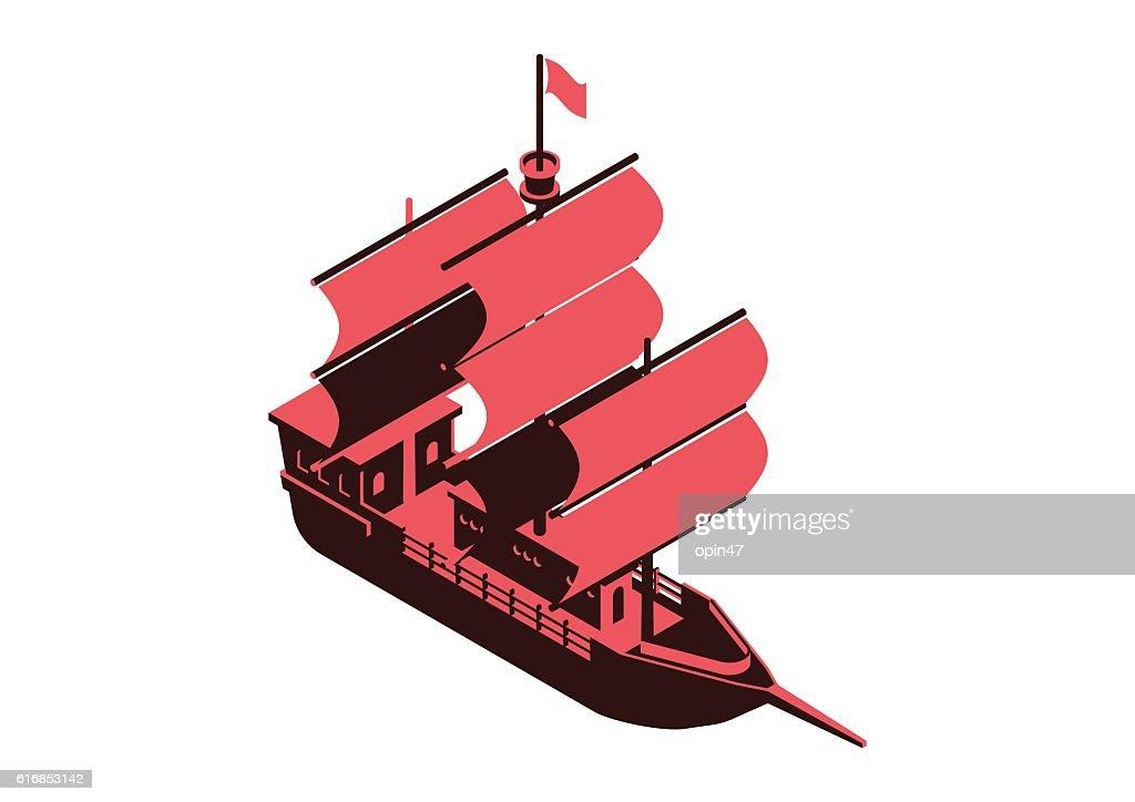 sailing ship : Vector Art