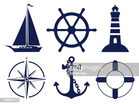 Sailing Symbols Vector Art | Getty Images