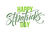 Saint Patrick's Day greeting lettering design element. Vector Illustration EPS10