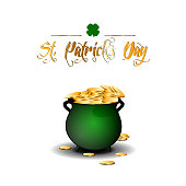 Isolated traditional money pot, Patrick's day vector illustration