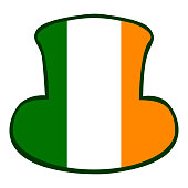 Isolated traditional hat with the irish flag, Patrick's day vector illustration