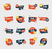 Sale badge vector design set