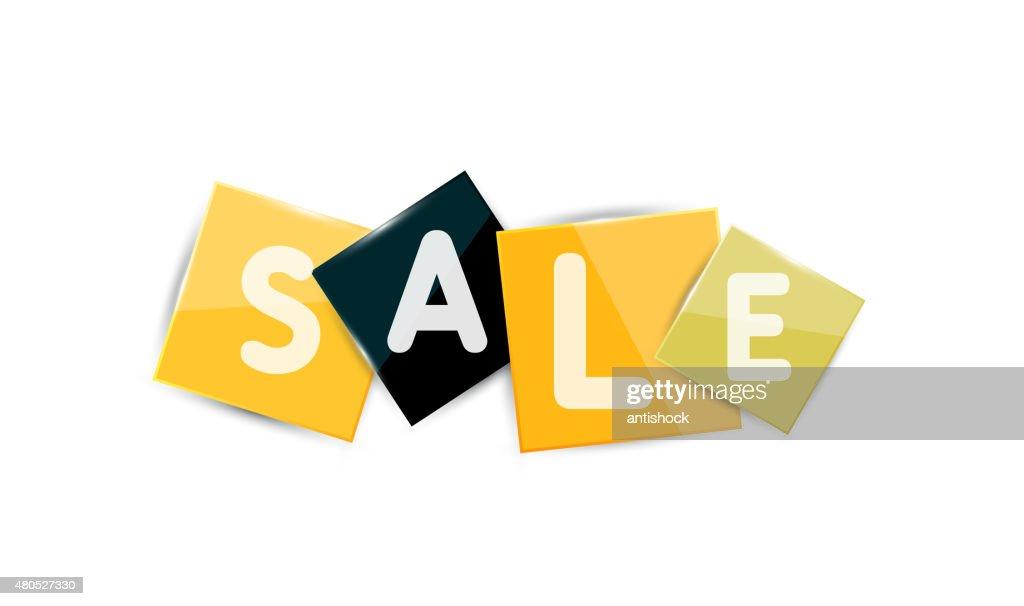 Sale word label banner : Vector Art