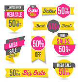 Collection of sales badges - banners, sales and discounts