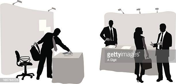 Sales Booth Vector Silhouette
