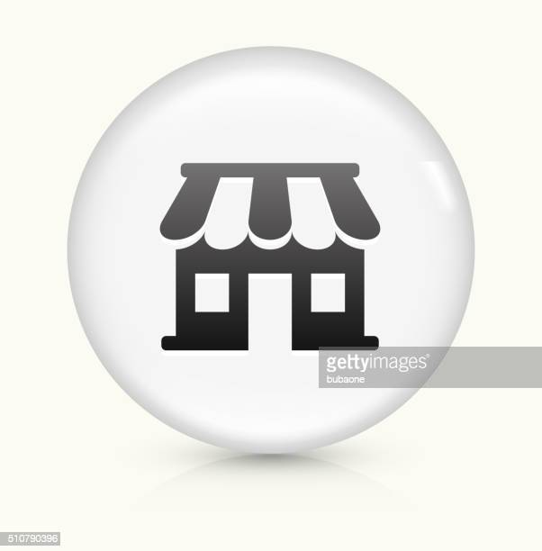 Samll business Store icon on white round vector button