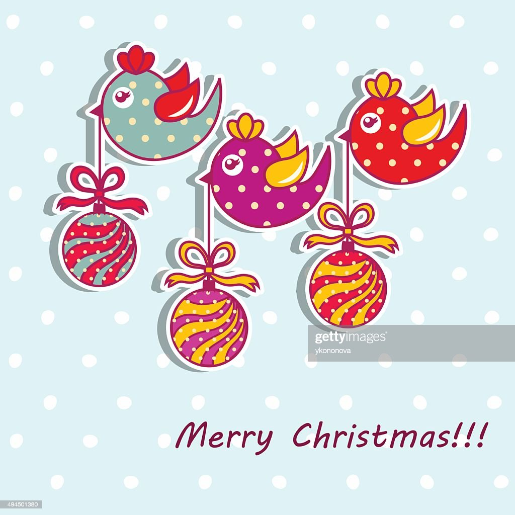 Sample Christmas Cards With Christmas Decorations Vector Art