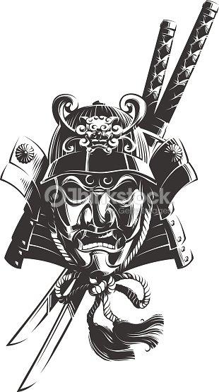 Samurai Mask Stock Vector Thinkstock