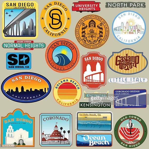 San Diego Diego Retro Decal Group