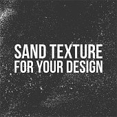 Sand Texture for Your Design. Black and white vector Illustration
