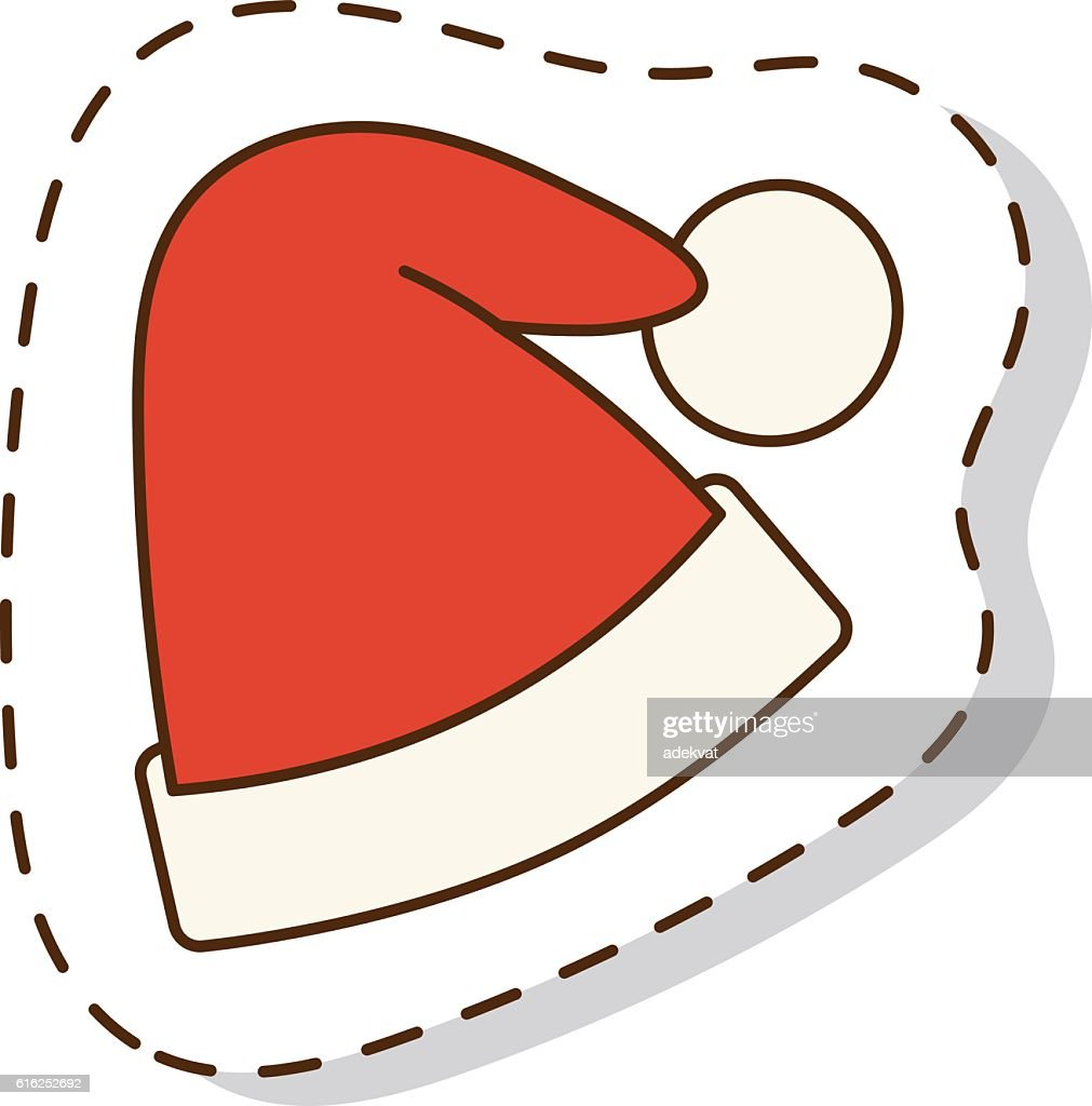 Santa christmas hat vector illustration. : Vector Art