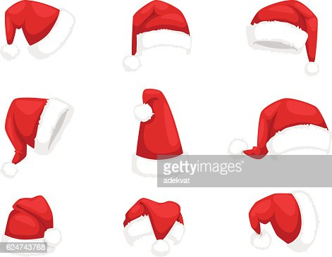Santa christmas hat vector illustration. : Arte vectorial
