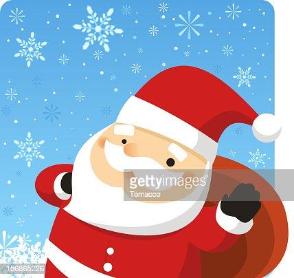 Santa Claus Christmas Design in the Snow : Vectorkunst