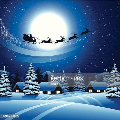santa sky snow wallpaper - photo #21