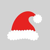 Santa claus hat. Vector illustration