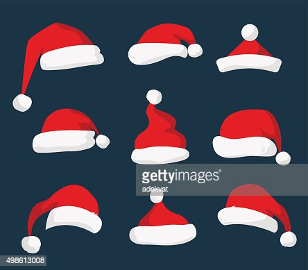 Santa Claus red hat vector aislado : Arte vectorial
