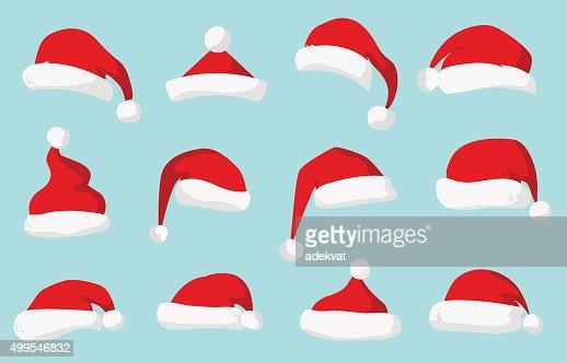Santa Claus red hat vector aislado : Arte vectorial