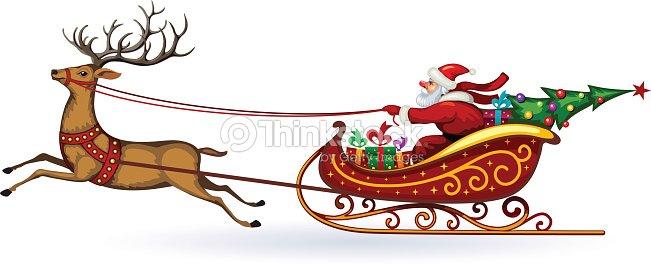 weihnachtsmann reiten auf einem schlitten im gurt auf der. Black Bedroom Furniture Sets. Home Design Ideas