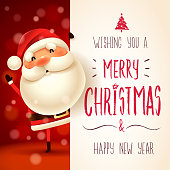 Merry Christmas calligraphy lettering design. Creative typography for holiday greeting.