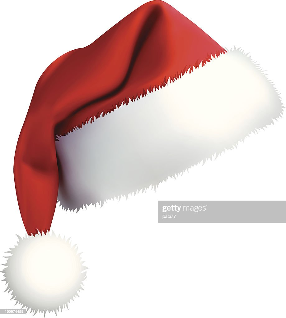 Santa hat vector art getty images