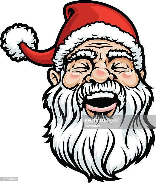 Santa Head Laughing