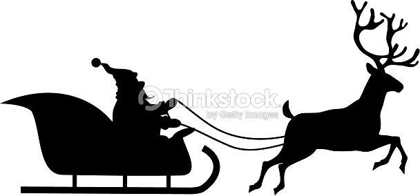 Santa Rides In A Sleigh Vector Art Thinkstock