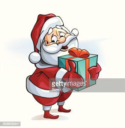 santa with a gift : Vector Art