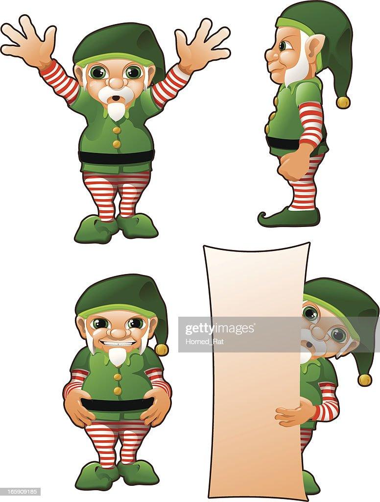 santas elfs vector art getty images