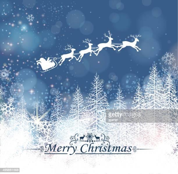 santa's sleigh on christmas tree