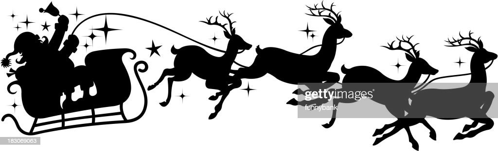 Santas Sleigh Silhouette Vector Art | Getty Images