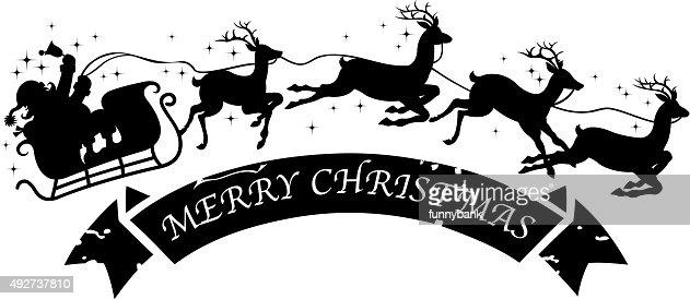 Santas Sleigh Silhouette Vector Art   Getty Images