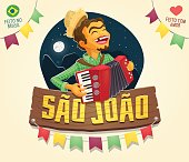 Multiple layers - Creative high quality vector cartoon for june party themes - Made in Brazil - Made with love